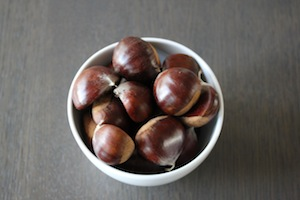 bowl of fresh chestnuts