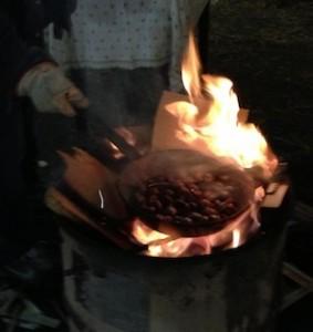 padella castagne
