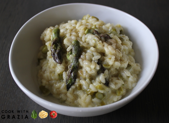 Asparagus | risotto | asparagus risotto | authentic | Italian recipe