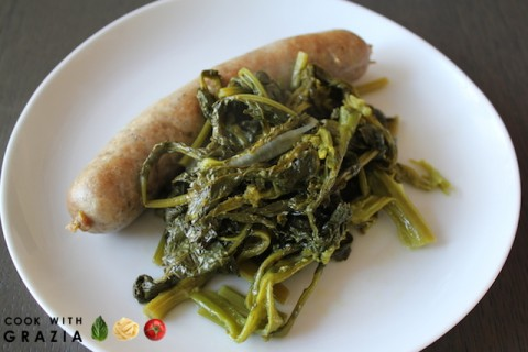 Sausages with Rapini