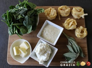 spinach and egg pasta