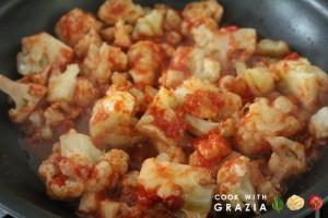 cauliflower red sauce