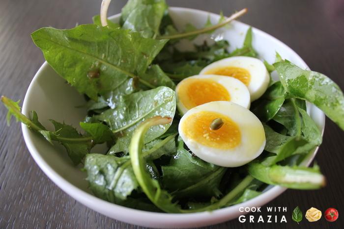 dandelions salad