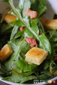 pancetta dandelions salad