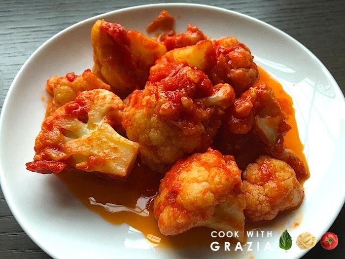 red sauce cauliflower