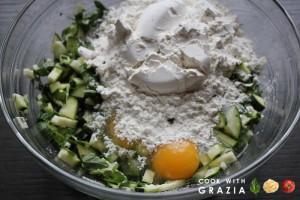 zucchini flour eggs